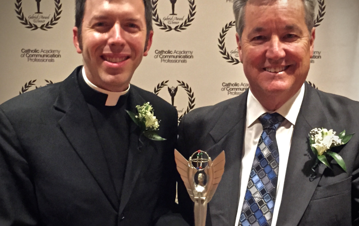 Father Josh receives Gabriel Award